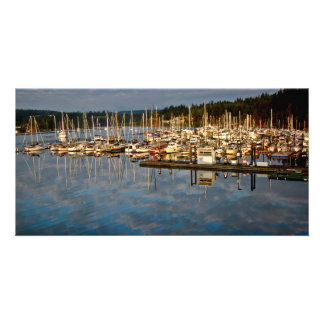 Port Ludlow in early light Customized Photo Card
