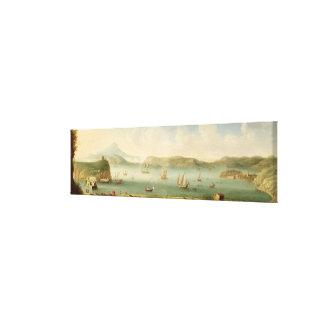 Port Mahon, Minorca, 1730's (oil on canvas) Canvas Print