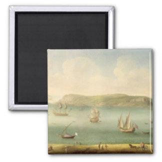 Port Mahon, Minorca, 1730's (oil on canvas) Magnet