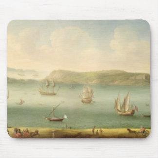 Port Mahon, Minorca, 1730's (oil on canvas) Mouse Mat