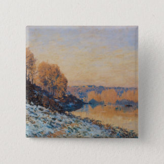 Port-Marly, White Frost, 1872 15 Cm Square Badge