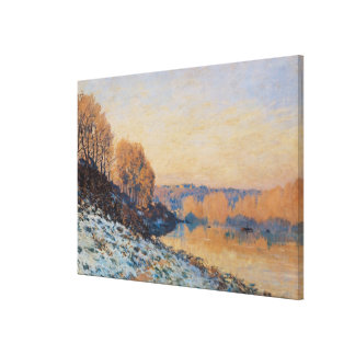 Port-Marly, White Frost, 1872 Canvas Print