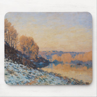 Port-Marly, White Frost, 1872 Mouse Pad