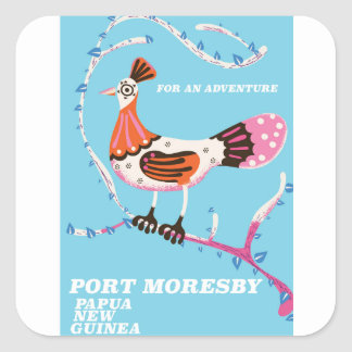 Port Moresby, Papua New Guinea Square Sticker