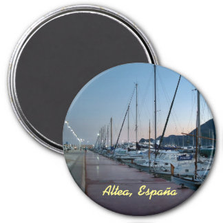 Port of Altea at dusk Magnet