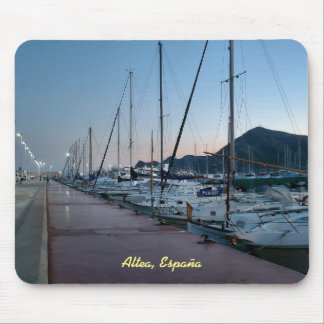 Port of Altea at dusk Mouse Mat