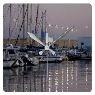 Port of Altea at dusk, Spain Clock
