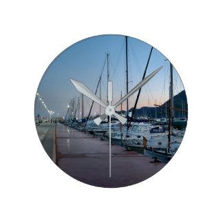 Port of Altea at dusk Wall Clocks