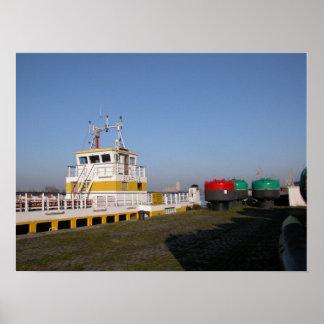 Port of Antwerp, Belgium; support vessels 3 Poster