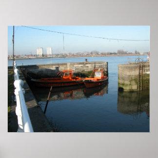 Port of Antwerp, Belgium; support vessels 7 Posters