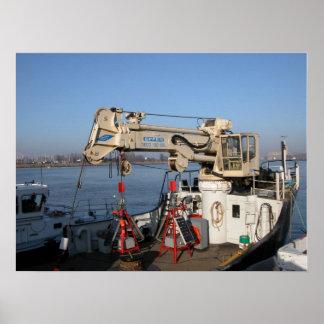 Port of Antwerp, Belgium; support vessels Print