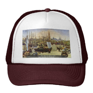 Port Of Bordeaux By Manet Edouard Trucker Hat