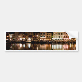 Port of Cassis at night Bumper Sticker