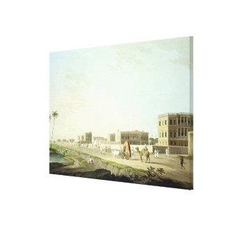 Port of Cheringhee, Calcutta, plate 32 from 'Orien Canvas Print