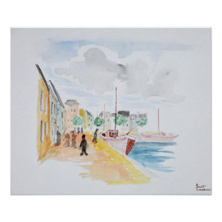 Port of Concarneau | Brittany, France Poster