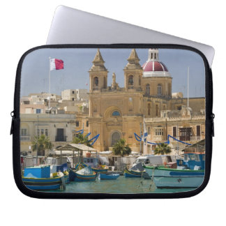 Port of Marsaxlokk on the Mediterranean Island Laptop Sleeve