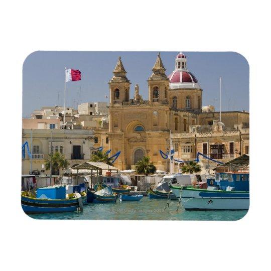 Port of Marsaxlokk on the Mediterranean Island Magnet