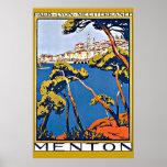 Port of Menton France Poster