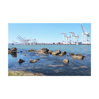 Port of Oakland ( Alameda view) Stretched Canvas Prints