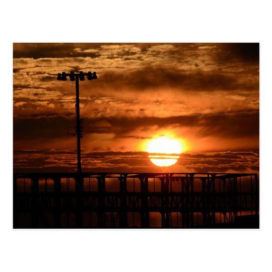 Port Of Oakland Sunset Postcard