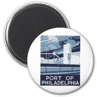 Port of Philadelphia Magnet