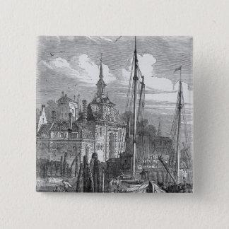 Port of Rotterdam, Holland 15 Cm Square Badge