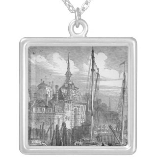 Port of Rotterdam, Holland Silver Plated Necklace