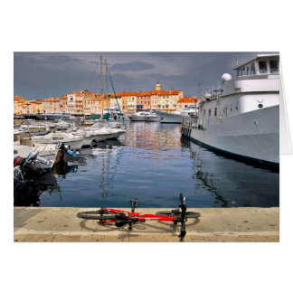 Port of Saint-Tropez in France Card