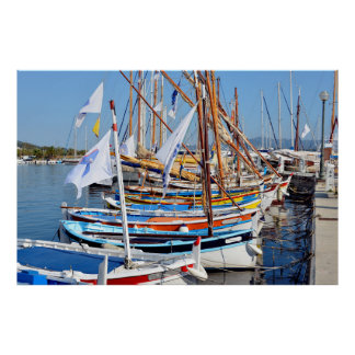 Port of Sanary-sur-Mer in France Poster