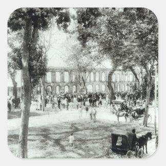 Port of Spain, Trinidad, 1891 Square Sticker