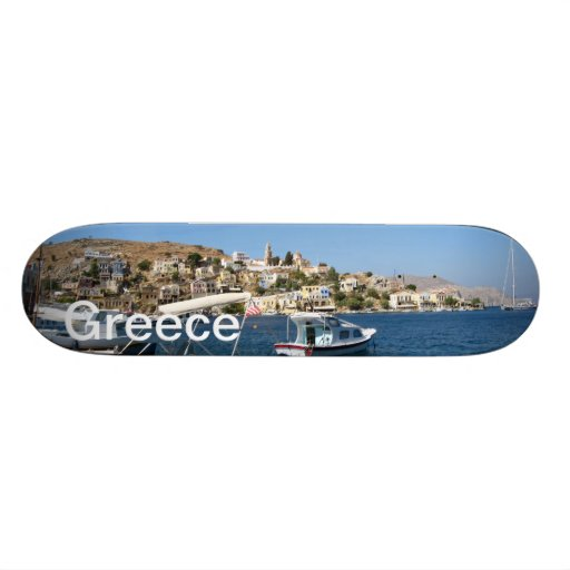Port of Symi Greece skateboard