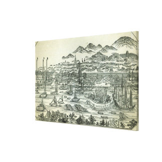 Port of the City of Canton Canvas Print