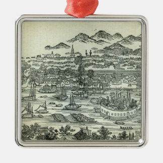 Port of the City of Canton Christmas Ornament