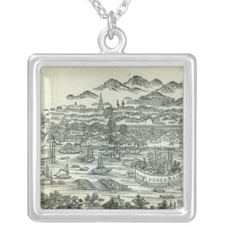 Port of the City of Canton Silver Plated Necklace