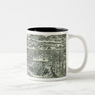 Port of the City of Canton Two-Tone Coffee Mug