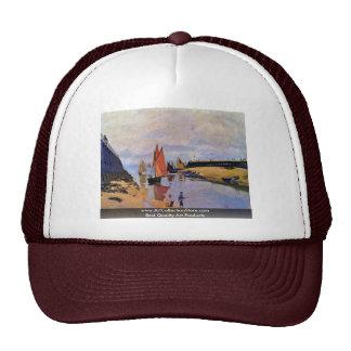 Port Of Trouville By Claude Monet Cap