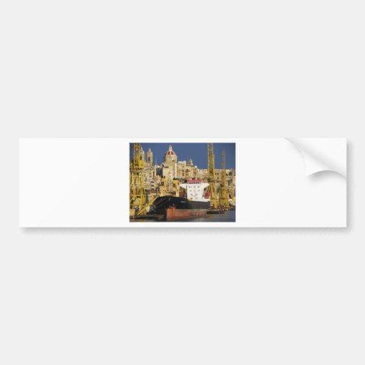 Port of Valletta. Bumper Sticker