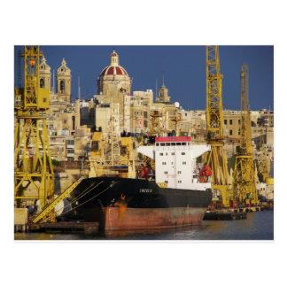 Port of Valletta. Postcard