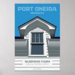 Port Oneida, Michigan - Burfiend Farm Poster