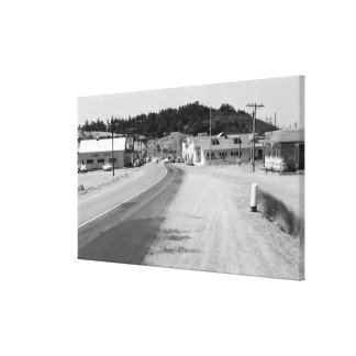 Port Orford, Oregon Town View Photograph Canvas Print