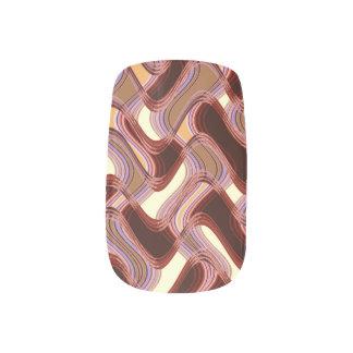 Port & Peach Minx Nails by Artist C.L. Brown Nail Wraps