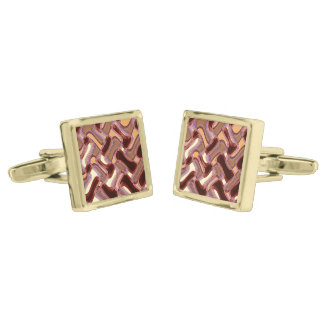 Port & Peach Square Cufflinks Gold Finish Cufflinks