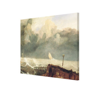 Port Ruysdael (oil on canvas) Canvas Print
