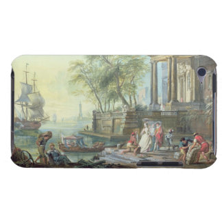 Port Scene with Setting Sun (oil on canvas) iPod Touch Case