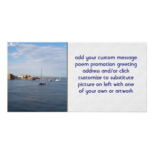 Port Townsend Moorage Customized Photo Card