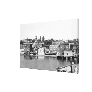 Port Townsend, WA Waterfront Town View Photograp Canvas Print