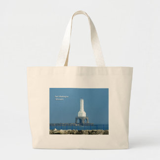 Port Washington Lighthouse Large Tote Bag