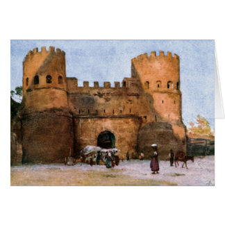 Porta San Paolo by Alberto Pisa Greeting Card