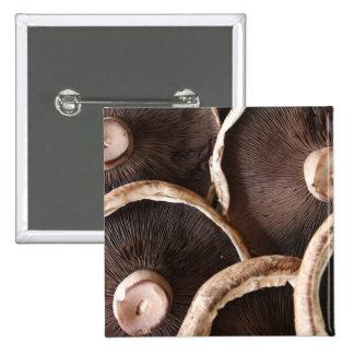 Portabella Mushrooms 15 Cm Square Badge