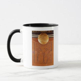 Portable chest, detail of Tutankhamun Mug
